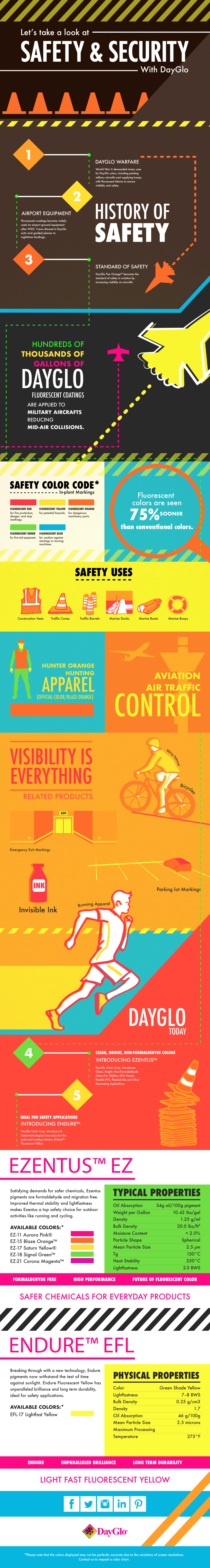 Safety and Security with DayGlo infographic